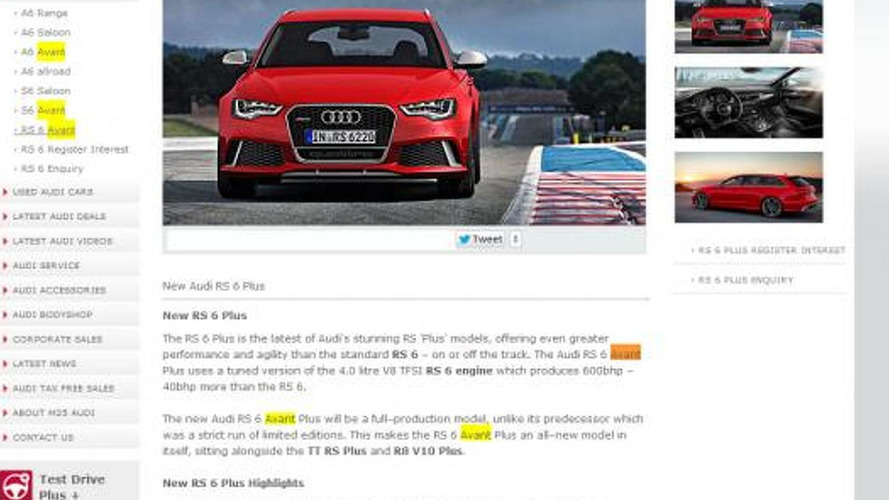 Audi dealer lists an RS 6 Avant Plus, is it real?