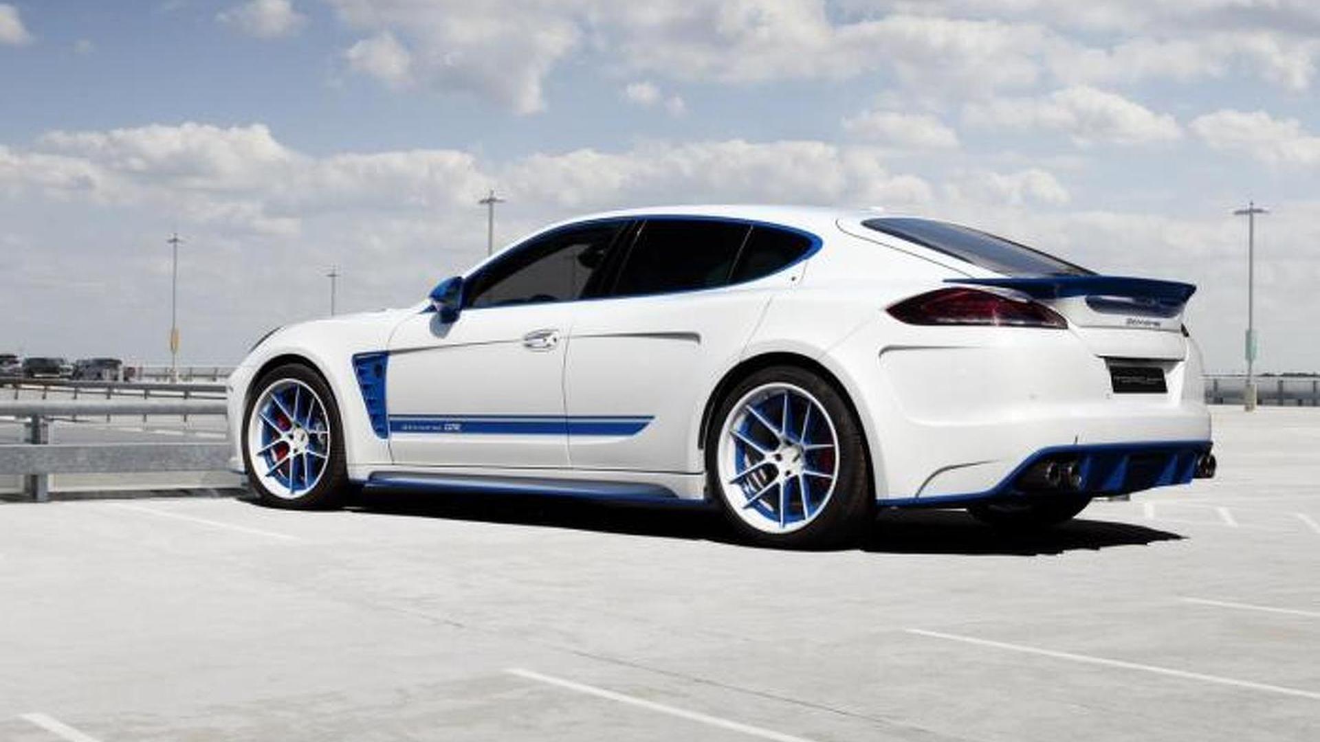 Porsche Panamera. Обвес Stingray GTR Blue от TopCar