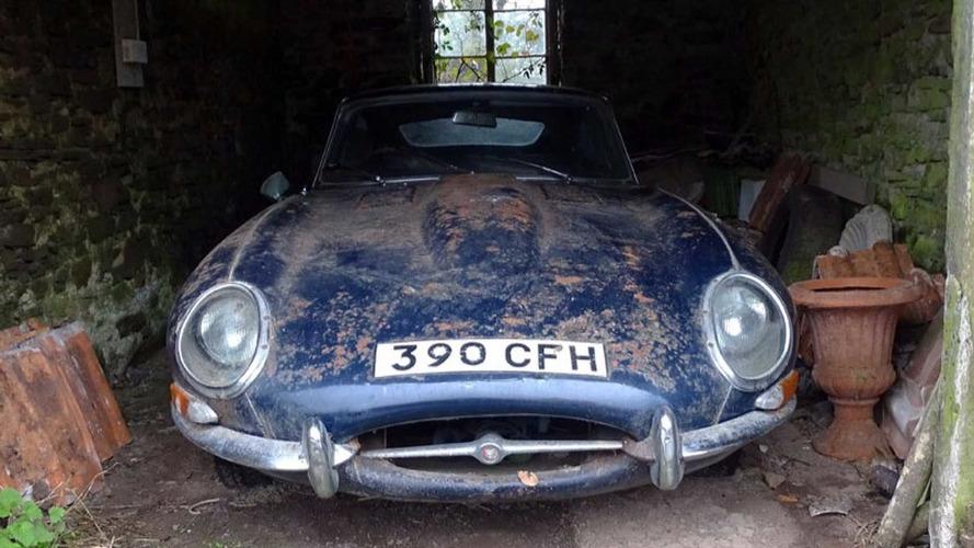 Jaguar E-Type de 1962 encontrado en un granero