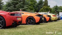 Ferrari 488 Italia, McLaren 650S, BMW M4, Nissan GT-R at 2017 Goodwood Festival of Speed