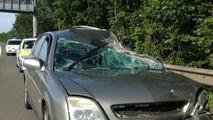 Crashed Vauxhall Vectra