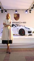 Maria Sharapova shows off her unique Porsche Panamera GTS