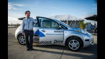 Nissan Leaf e la guida autonoma