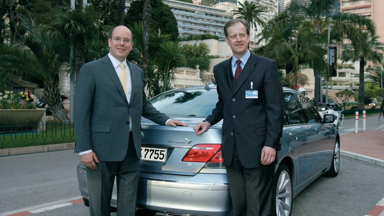 Prince Albert II of Monaco with BMW Hydrogen 7