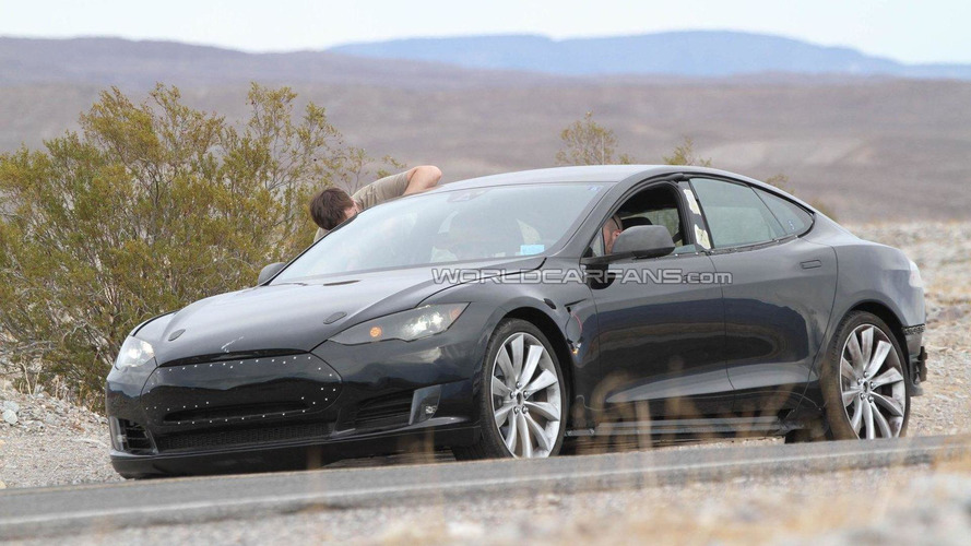 2012 Tesla Model S spied hot-weather testing