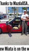 Crashed Mazda Miata MX-5
