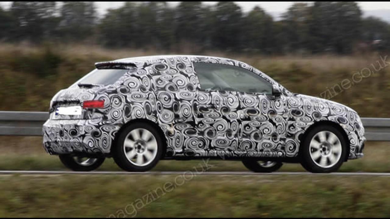 Novo Audi A1 é flagrado em testes com disfarces - Modelo pode chegar com motor flex ao Brasil