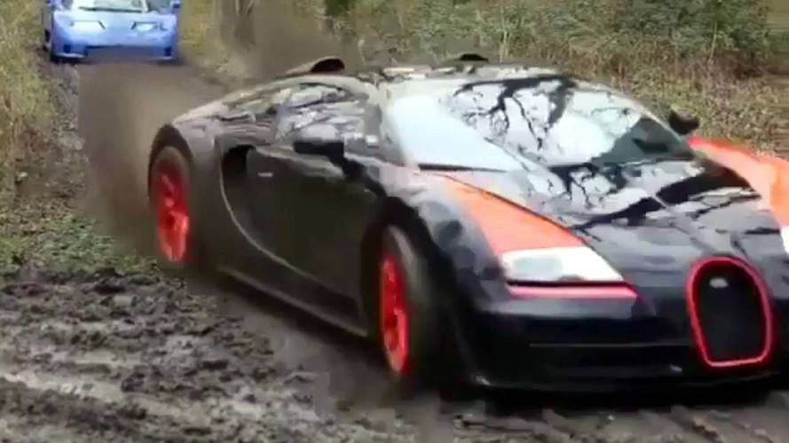 Bugatti Veyron And Other Supercars Go Off-Roading In Crazy Vid