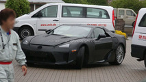 Lexus LF-A production version spied