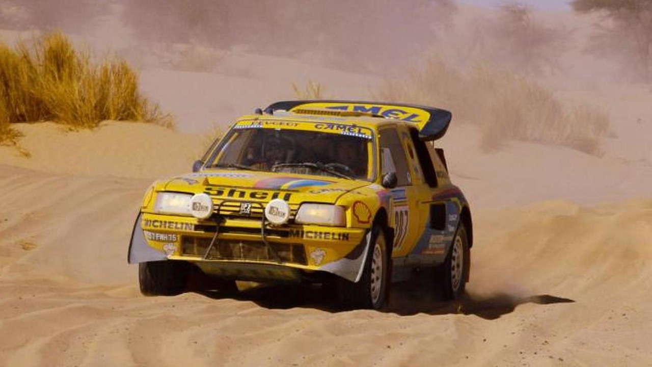 Peugeot 205 Turbo 16 at 1987 Paris Dakar