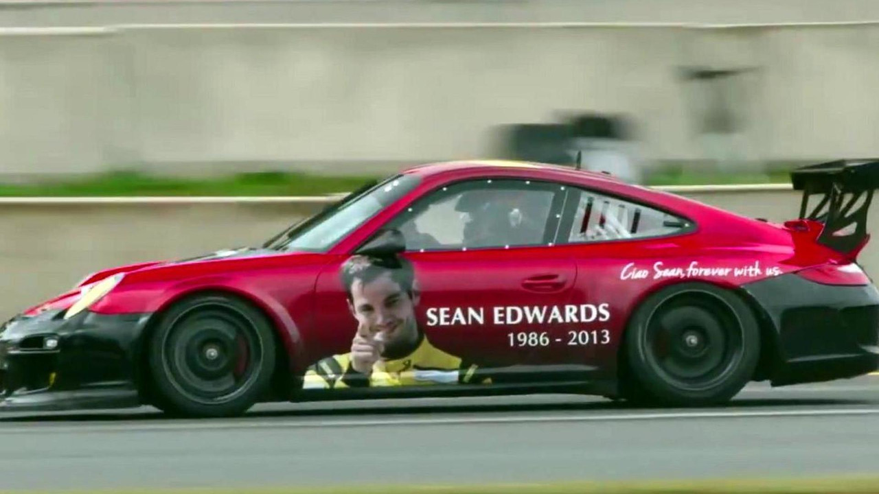 Sean Edwards tribute livery for Porsche IMSA GT3 Cup Challenge Road Atalanta 04.11.2013