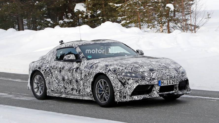 Toyota Supra Looks Like Its Posing For The Camera In New Spy Shots