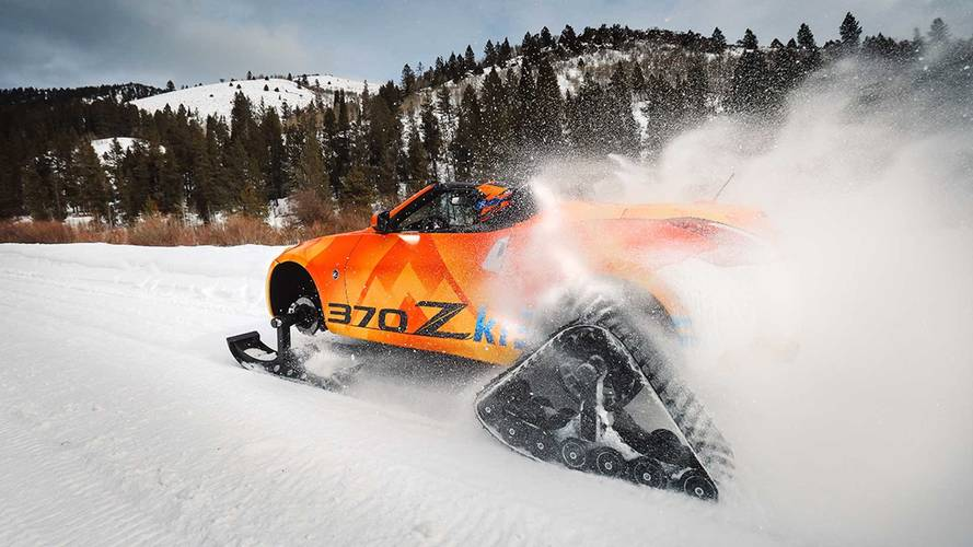 Get your snow drift on with the Nissan 370Zki snowmobile