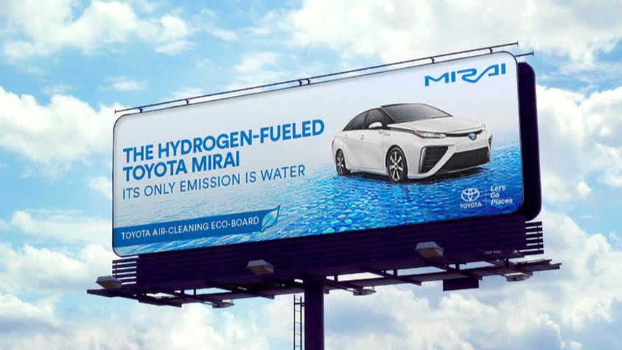 Toyota Mirai Billboards Will Literally Clean The Air