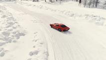Lamborghini Miura en la nieve