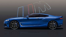 2018 BMW M8 Coupe render