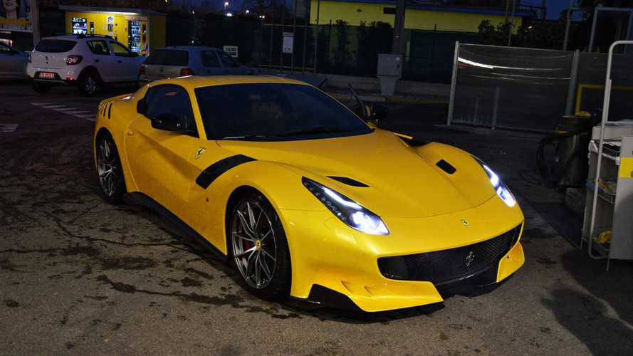 Stunning yellow Ferrari F12tdf photographed in the metal