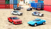 Seven Group B rally cars