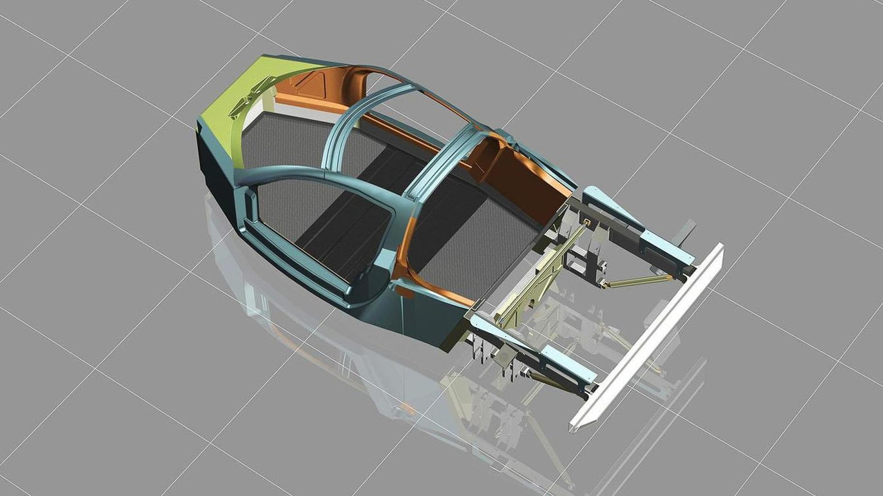 DeltaWing road car chassis