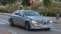 Next generation Mercedes-Benz E-Class spied testing and carrying production body