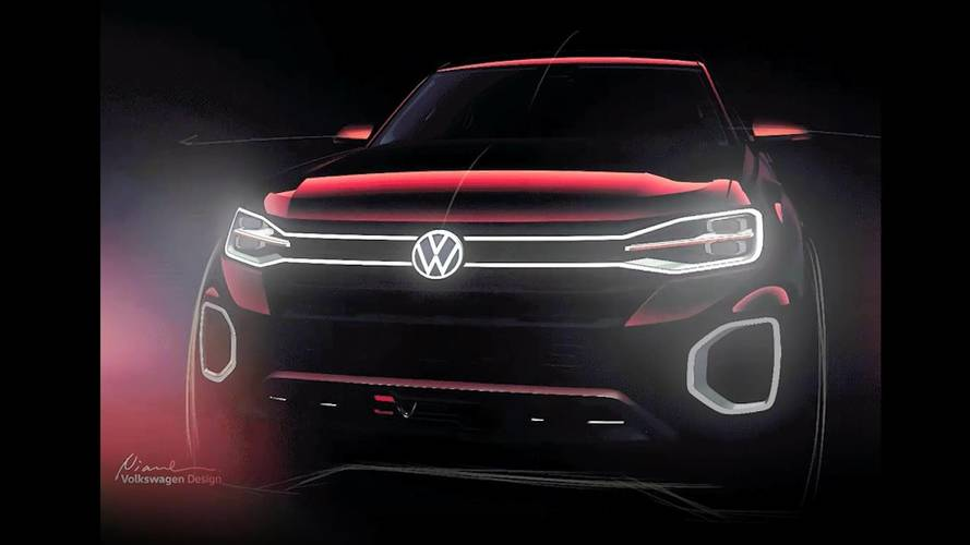 VW Pickup Truck Concept Teased Ahead Of Today's Reveal