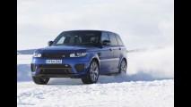 Range Rover Sport SVR é testado ao extremo em lago congelado no Ártico