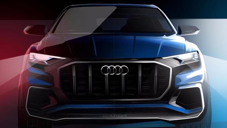 Audi divulga teaser e confirma estreia do Q8 e-tron Concept em Detroit