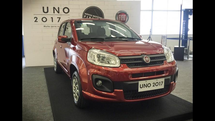 Fiat Uno 2017 estreia novos motores Firefly, direção elétrica e ESP  - veja preços