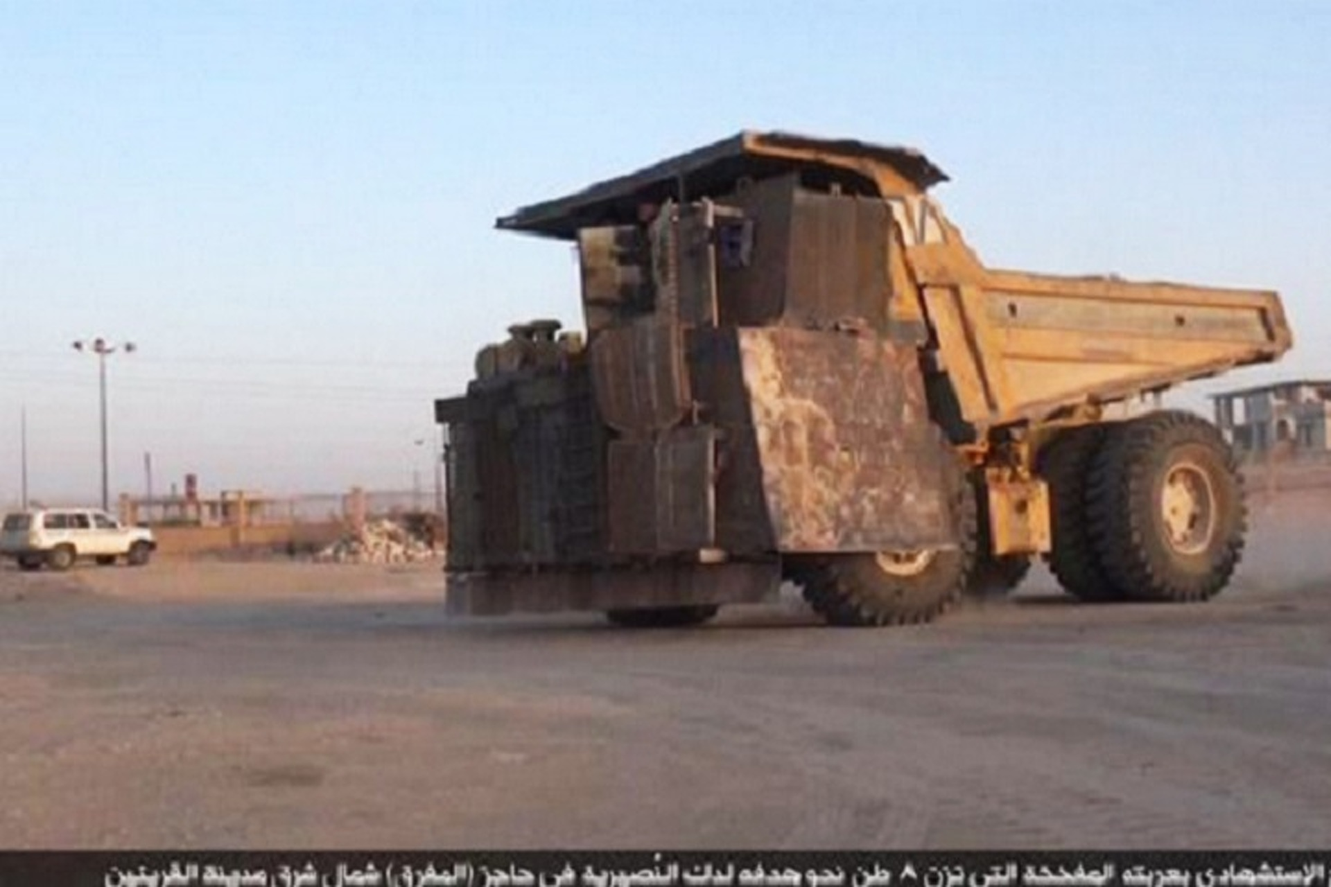 isis turns 100 ton dump truck into ied