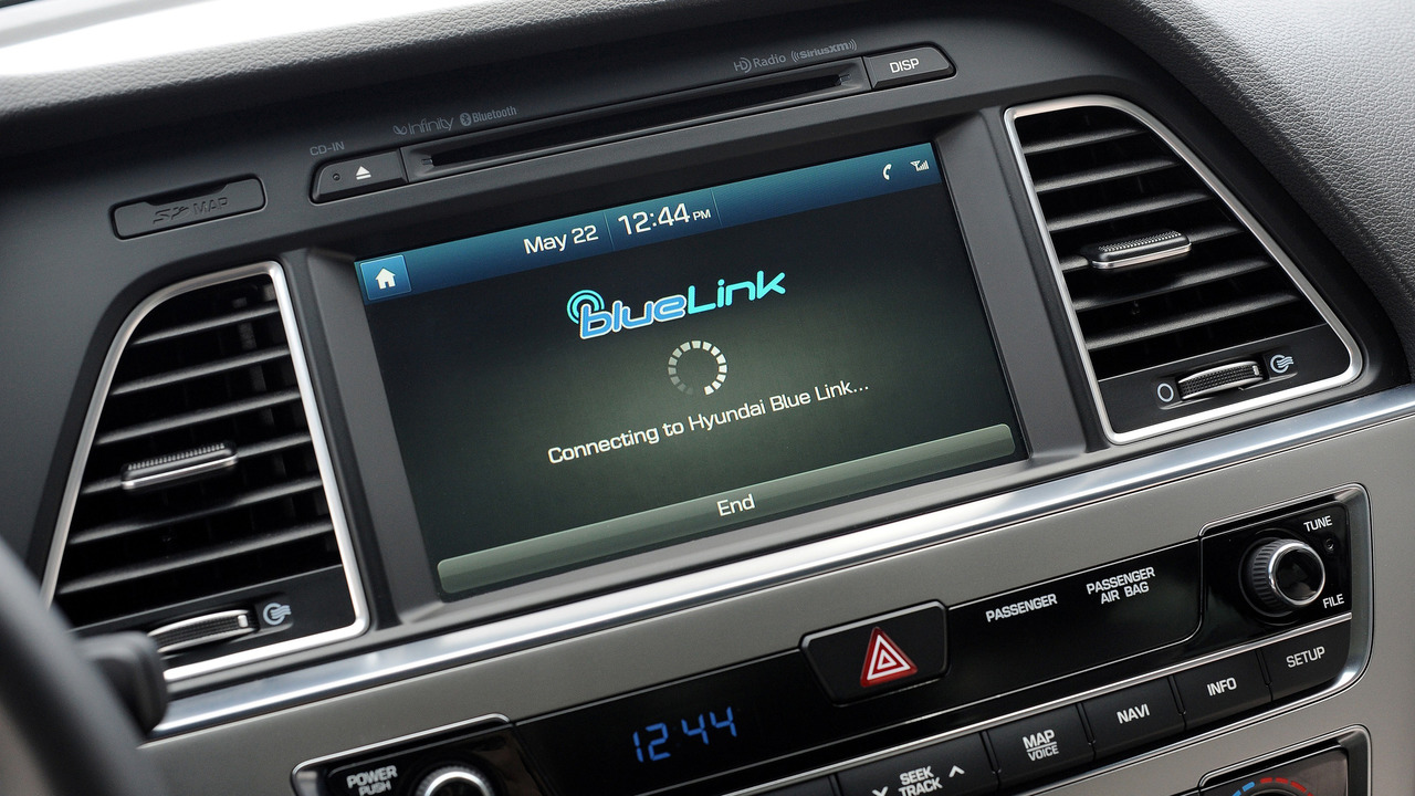Hyundai Sonata Blue Link display