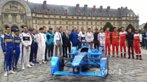 Drivers group photo with Alejandro Agag, Formula E CEO and Jean Todt, FIA President