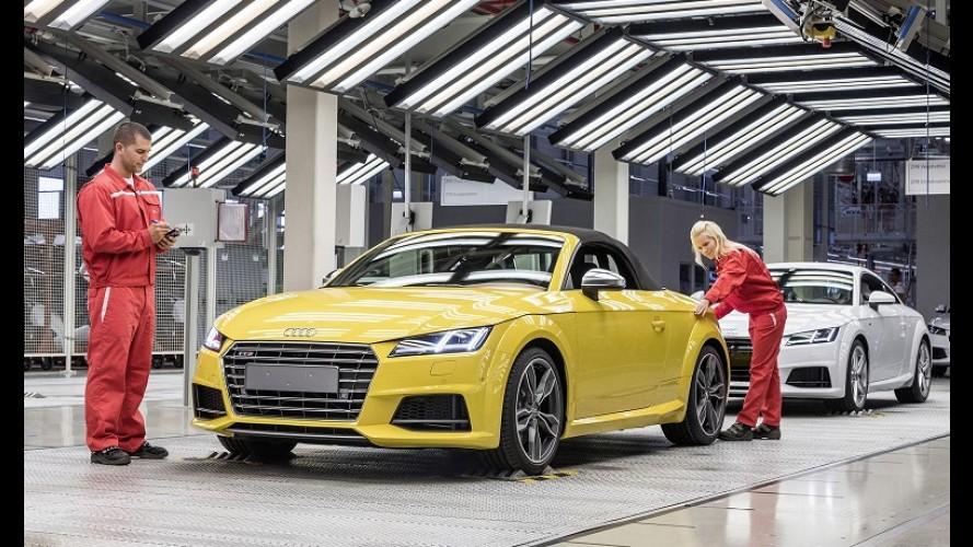Audi inicia produção da nova geração do TT Roadster na Hungria