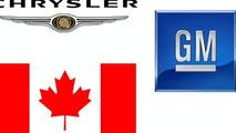Canada flag - GM Chrysler logos
