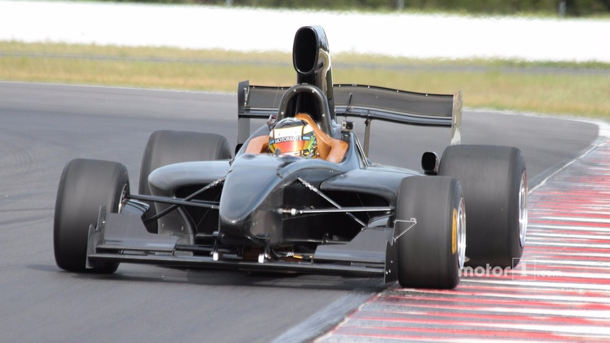 New Formula 5000 car makes track debut